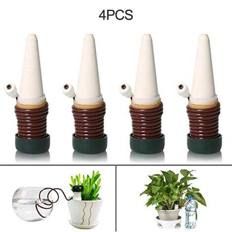 4pcs Plante arrosage auto Spikes, Jardin des plantes abreuvoirs, Piquets automatique d'irrigation Abreuvoir pour plantes 'interieur et exterieur Plantes en pot legumes fleurs