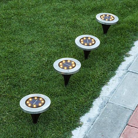 4PCS Solar Ground Lights Floor Decking Patio Outdoor Garden Lawn Path LED Lamp