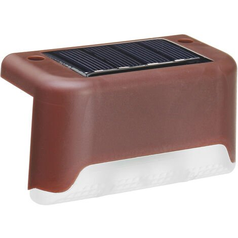 4PCS Solar Powered Deck Lights LED Waterproof IP55 Step Wall Lamp warmwhite