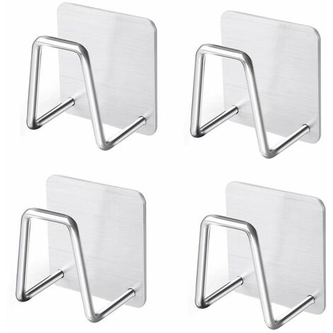 4pcs Sponge Door, Kitchen Sink Support, Standard Stainless Steel Support Kitchen Tool Sponge Sponge Drink, Dishwasher, Dishwashes, Bath Balls