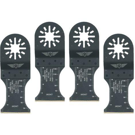 4pcs TopsTools TCT Metal Multitool Blades - UN35ACT_4