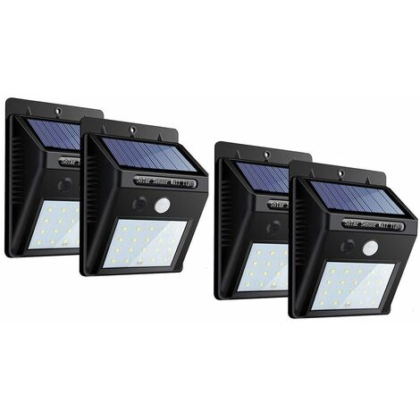 """main image of """"4PZ faretto 20 led sensore movimento pannello solare ricaricabile luce fredda"""""""