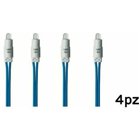 4pz spia led blu 230V per interruttore luce di segnalazione ad ampolla C0015BLU