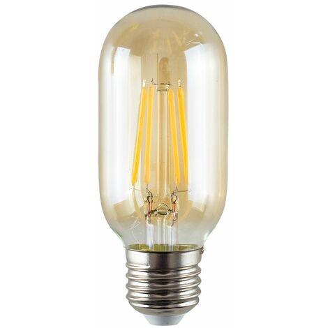 4W LED Filament ES E27 Radio Valve Amber Tubular Light Bulb