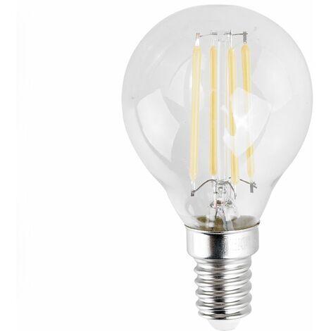 4w LED Filament SES E14 Clear Golfball Light Bulb - 6500K Cool White