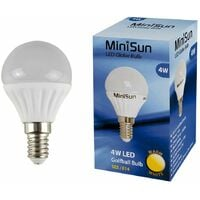 4w LED SES E14 Golfball Energy Saving Light Bulb - 3000K Warm White