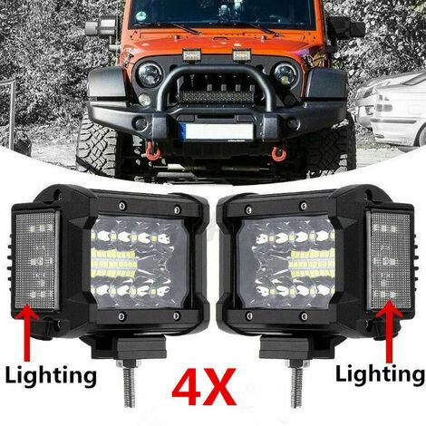 4X 3.5'' Inch LED Work Light Bar 4WD Offroad Combo Beam Fog ATV SUV Driving