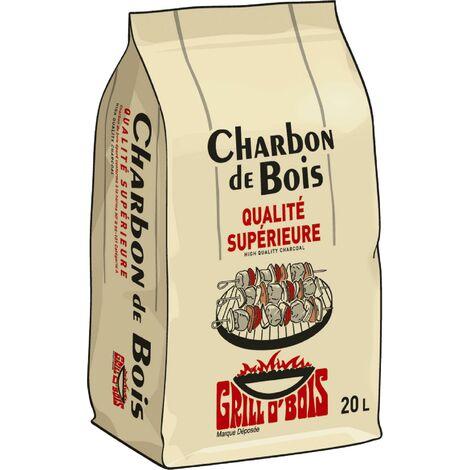 4x Charbon de bois 20L - Qualite superieure Grill O Bois