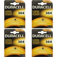 4x Duracell 364 1.5v Silver Oxide Watch Battery Batteries SW621SW D364 V364 SR60