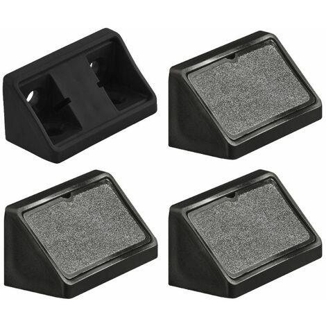 """main image of """"4x équerre d'assemblage double noir raccord universel plastique taquet équerres ferrure"""""""