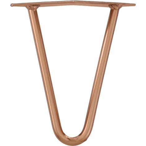 4x Hairpin Leg Tischbein Haarnadelbeine Tischkufen DIY 15cm Kupfer
