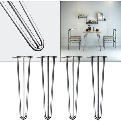4x Hairpin Table Legs 60cm steel retro Vintage Coffee Table Desk Seat Leg