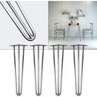 4x Hairpin Table Legs 60cm steel retro Vintage Coffee Table Desk Seat Leg