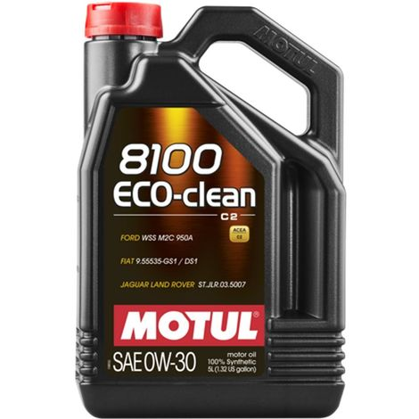 4x Huile Motul 8100 Eco-Clean C2 0W30 bidon de 5L