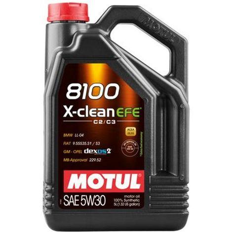 4x Huile Motul 8100 X-Clean EFE5W30 bidon de 5L