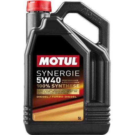 4x Huile Motul synergie Essence 5W40 bidon de 5L