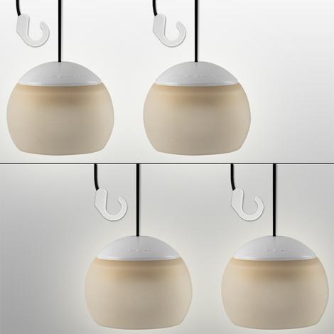 4X Lampe Suspension - Flexible - Avec 4 Led Alimentation Piles - Avec Crochet