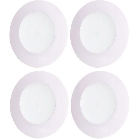 4x LED Einbaustrahler, rund, Dimmer, D 10,2 cm, TINUS
