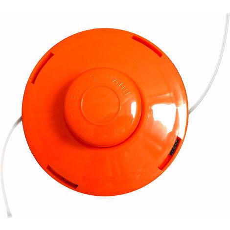 Bobina a Doppio Filo Ricambio Nemaxx FS1 Testina semiautomatica Bobina per decespugliatore a Benzina Rullo di Nylon Accessori Arancione