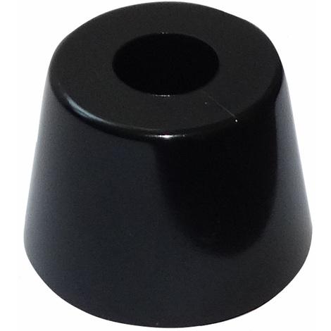 4x pieds patins ronds en PVC H:20mm Ø28mm pour meubles. A visser. Noir