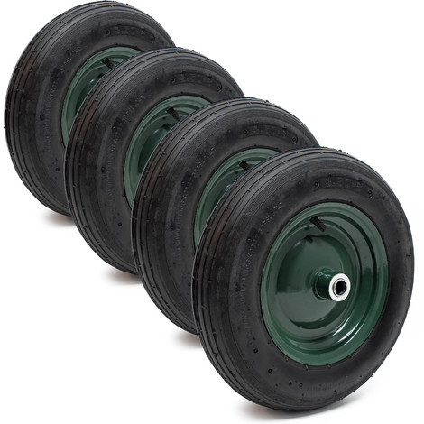 4x Pneumatic Tyre for Wheelbarrow Size 3.50-8