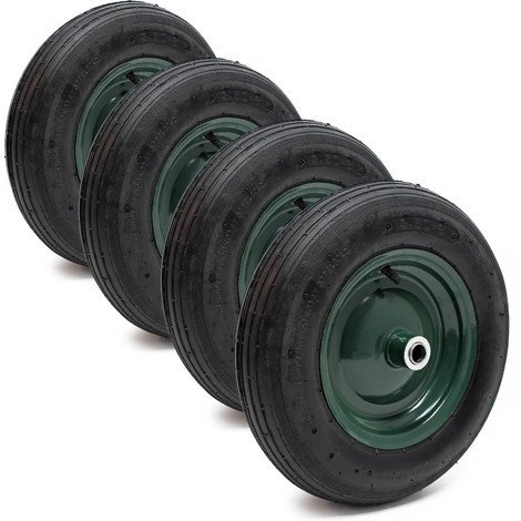4x ruedas carretilla completas 3.50-8 rueda llanta neumático