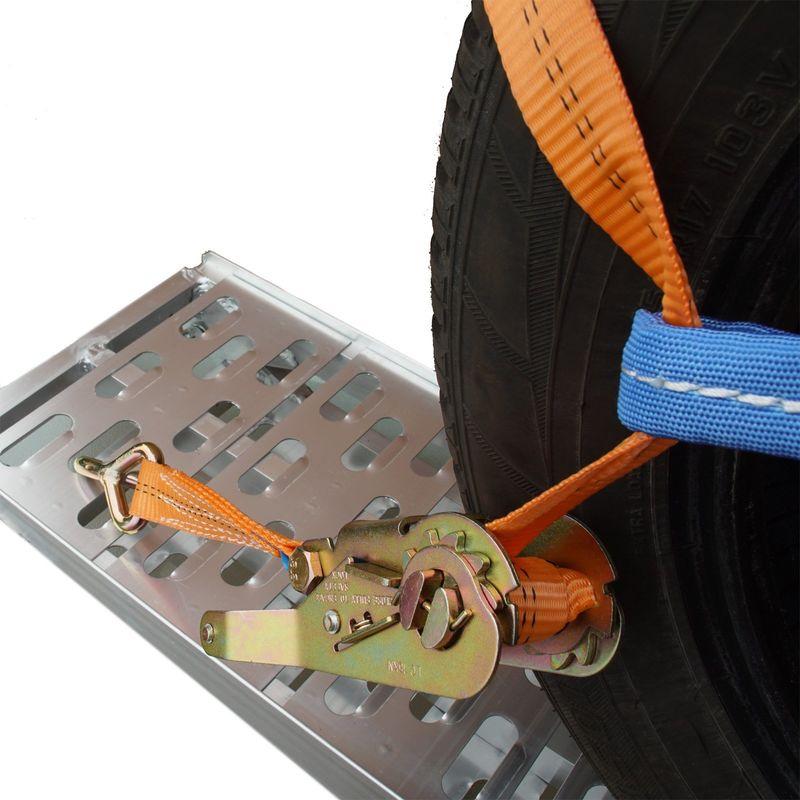 1 4 Stück Spanngurt Zurrgurt für Pkw Auto Transport zur Radsicherung