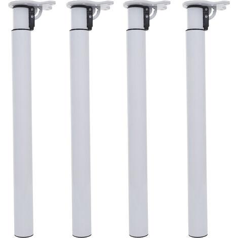 4x Tischbein HHG-892, für Schreibtisch Esstischfuß, klappbar Drehmechanismus höhenverstellbar 70-110cm