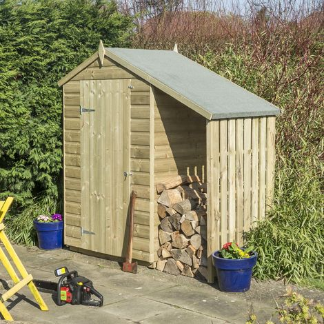 4X3 Oxford Shed with Lean-to