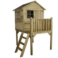 4x4 Forest Charlie Traditional Tower Kids Playhouse With Stable Door