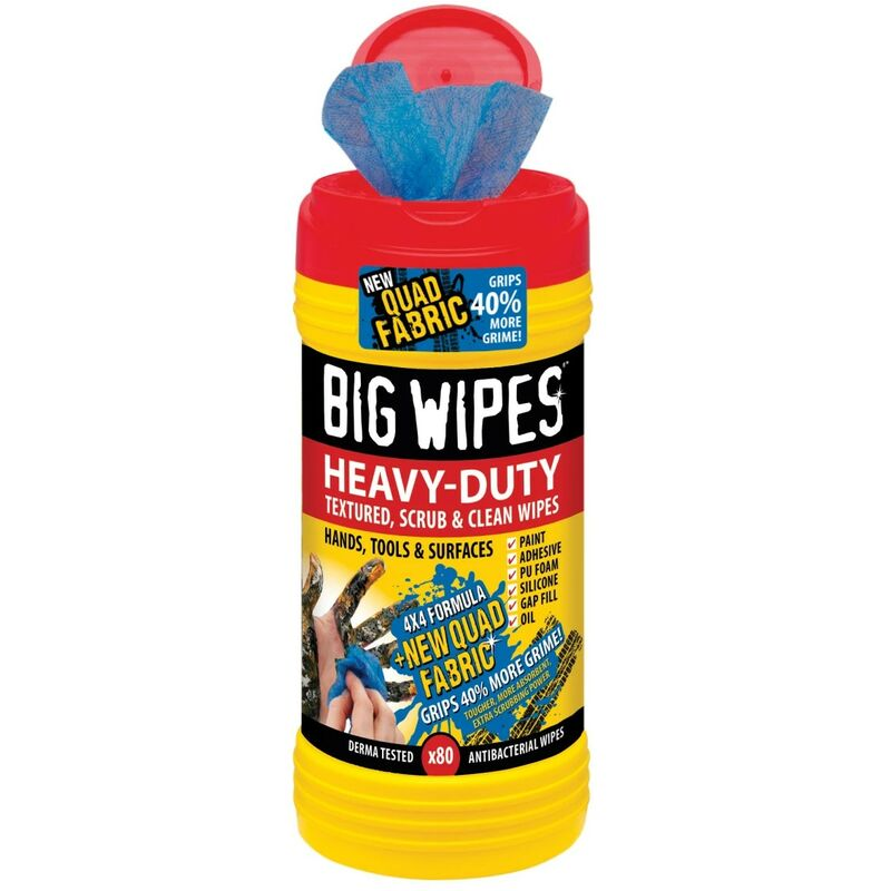 Image of 80 Heavy Duty 4x4 Industrial Office Tools Surfaces Cleaning BGW2420 - Big Wipes