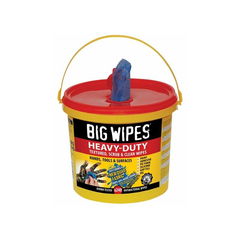 Image of 240 Heavy Duty 4 x4 Industrial Office Tools Surfaces Cleaning Bucket - Big Wipes