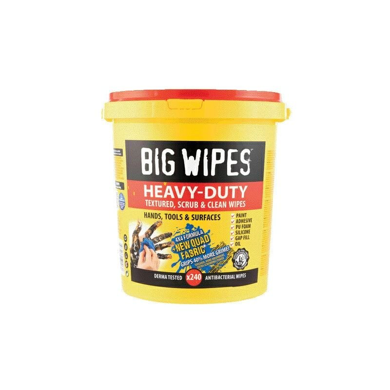 Image of 4X4 Heavy Duty Wipes - Pack of 240 - Big Wipes