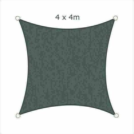 4x4m Sun Sail Shade Square Awning Canopy Garden Sun Cover Patio Sunscreen - Charcoal