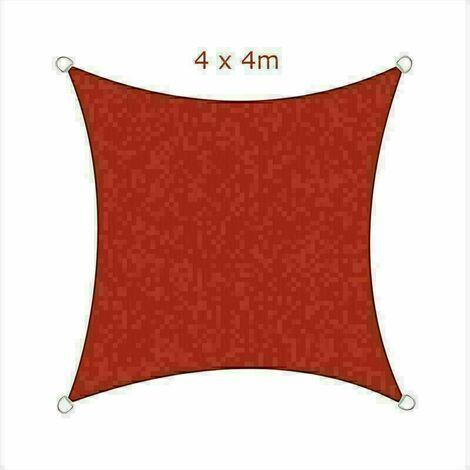 4x4m Sun Sail Shade Square Awning Canopy Garden Sun Cover Patio Sunscreen - Terracotta