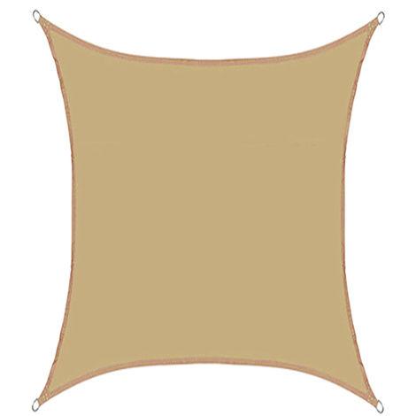 4x5m Sombra de Vela Rectangular Protección UV Rayos Impermeable Caqui