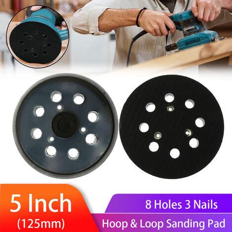 5/2/1 piezas 5 pulgadas 125 mm Papel de lija de metal Disco de pulido Disco Hojas de arena Disco de lijado Pulido para Porter / Cable negro & amp;Cubierta / DeWalt / Makita