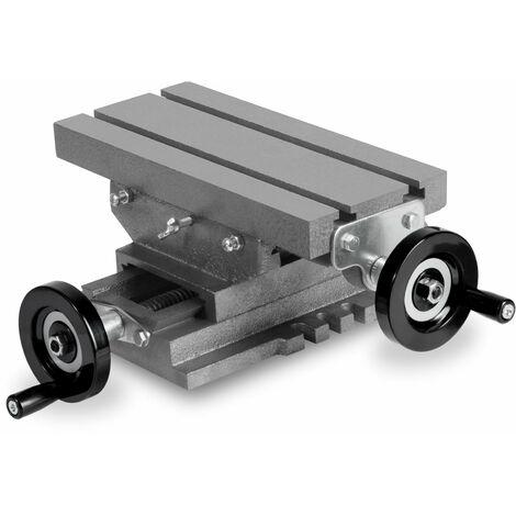 """5"""" 2-Achsen Koordinatentisch (Arbeitstisch 258 x 123 mm, Arbeitshöhe 115 mm, 2 Spannuten) Schraubstock Frästisch"""