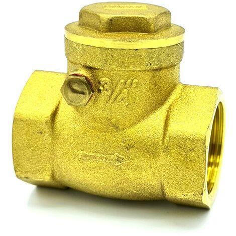 "main image of ""5/4"" (1 1/4"") swing clack non-return check valve brass one-way valves"""