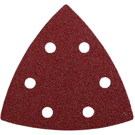 5 Abrasivos triángulo perforados 93 mm GR 80 QUICK-STICK KWB