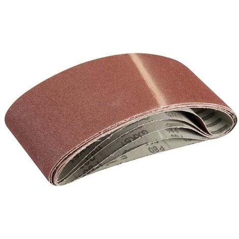 5 bandes abrasives 100 x 610 mm Silverline