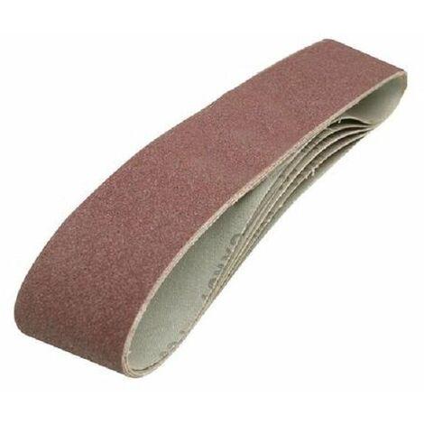 5 bandes abrasives 100 x 915 mm grain 80 Silverline