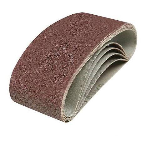 5 bandes abrasives 60 x 400 mm Silverline