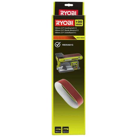 5 bandes abrasives RYOBI 100 x 914 mm pour ponceuse à bande - grain 80 BSS100A5