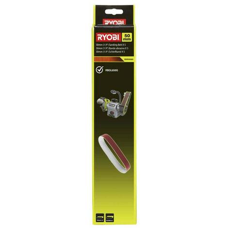 5 bandes abrasives RYOBI 50x686mm pour touret à meuler - grain 80 BSS50A5
