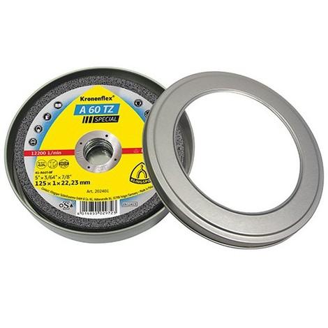 5 boites de 10 disques à tronçonner MP SPECIAL A 60 TZ D. 125 x 1 x 22,23 mm - Métal / Inox - 310504 - Klingspor - -
