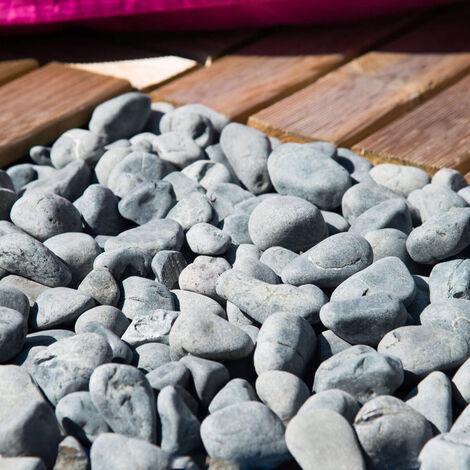 5 bolsas de piedras grises de 20 kg