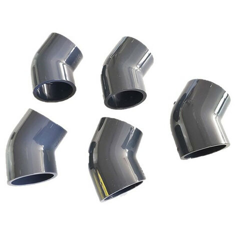 5 codos - ø 50 mm - Codo simple de PVC de 45° - Hembra para pegar/ Hembra para pegar