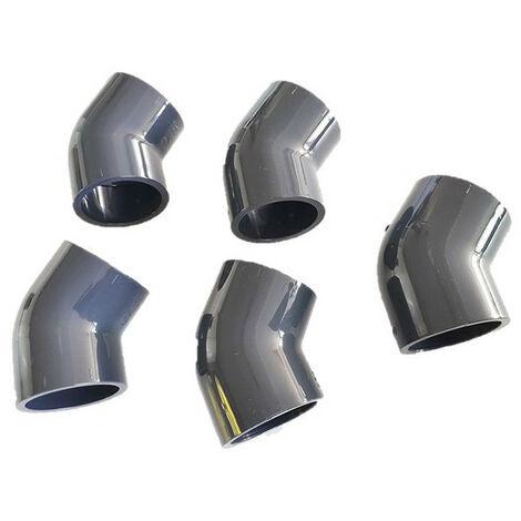 5 coudes - ø 50 mm - Coude Simple en PVC à 45°- Femelle à Coller/Femelle à Coller