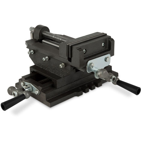 "5"" Cross Sliding Drill Press Vice (125 mm Jaws, 98 mm Opening, 110 mm Cross Moving, Dovetail Guide, Solid Construction)"
